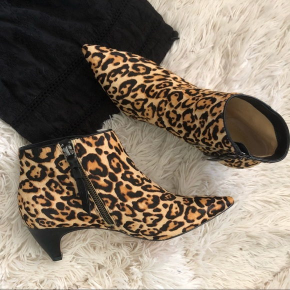 aa52405e2584 Splendid Shoes | Nwt Dante Ii Calf Hair Leopard Bootie 85 | Poshmark